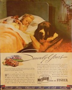 1934 Body by Fisher These Fortunate People Vintage Print Ad