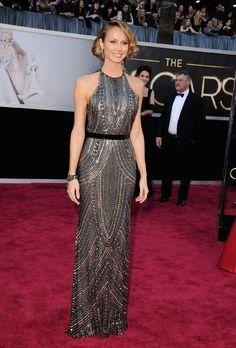 Stacy Keibler - Naeem Khan dress and Lorraine Schwartz jewels - 85th Annual Academy Awards [By Steve Granitz, 2013]