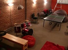 A Dungeon in Back:  In the back of the @twilio office is The Dungeon—the Twilio break room, complete with a resident drum set. A great place to take a break and unwind.