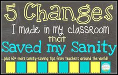 5 Changes That Saved My Sanity; great list to look at and remember for next year!