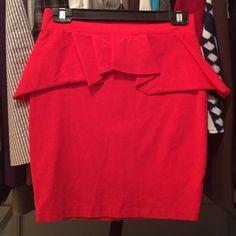 Spandex peplum mini skirt Super cute and flattering! Wore once to a Beyoncé show bebe Skirts Mini