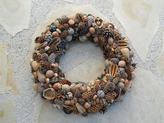 Wreath of nuts and more.