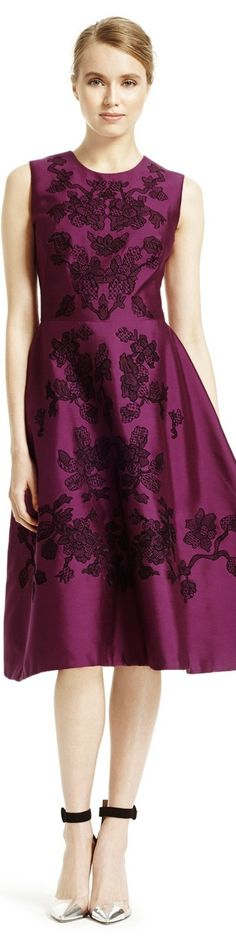Silk and Wool Stitch Embroidery Dress by Lela Rose Women's Dresses, Pretty Dresses, Blond, I Love Fashion, Womens Fashion, Lela Rose, Embroidery Dress, Looks Style, Beautiful Gowns