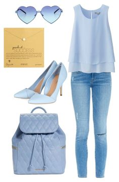 """""""Light blue casual chic everyday outfit!"""" by melinabaltogianni on Polyvore"""