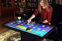 "Ideum's 46"" Multitouch Coffee Table"