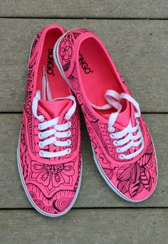 Zentangle sneakers shoes sneakers zentangle door ArtworksEclectic