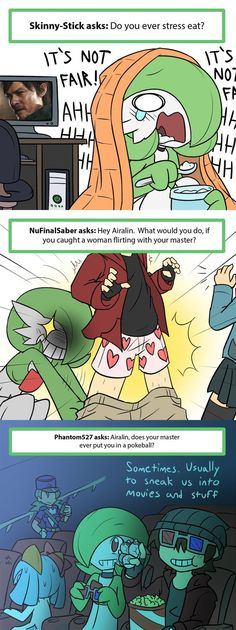 gardevoir is so smart! who wouldn't want to pull down there master's pants down?