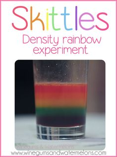 Skittles Rainbow: Water density experiment #scienceexperiment #scienceforkids