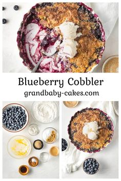 A deliciously easy Blueberry Cobbler recipe made with fresh blueberries, zesty lemon juice, warm spice, and basic pantry ingredients! Topped with a yellow cake mix and creamy melted butter, this cobbler couldn't be any easier to make!