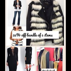 Why not by a bundle ✔️✨ 25% Off five items.... Let's go shopping ✨ Other