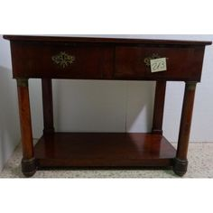 Consola estilo isabelino siglo xix en madera de caoba for Consolas antiguas muebles