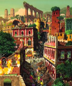 From the newest Ghibli movie Ged Senki or Gedo Senki (Tales from Earthsea), directed by Hayao Miyazaki`s son, Goro Miyazaki. Hayao Miyazaki, Studio Ghibli Films, Art Studio Ghibli, Studio Ghibli Background, Animation Background, Castle In The Sky, Howls Moving Castle, Totoro, Tales From Earthsea