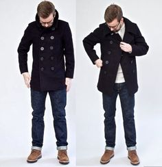 The Real McCoy's US Navy Pea Coat 1913 Edition - Superdenim   THE ...