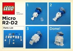 LEGO: Micro R2-D2 Instructions | by umamen on2 the 2do list for ear hangers