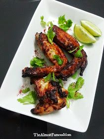 The Almost Famous Mom: Coriander, Lime and Yogurt AirGrilled Chicken Wings