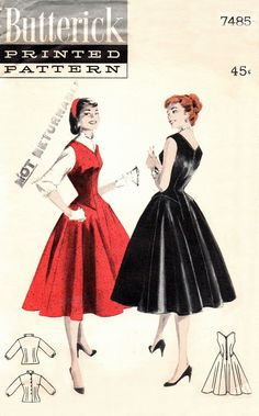 Butterick 7485 Delicious Jumper and Blouse / ca. 1955