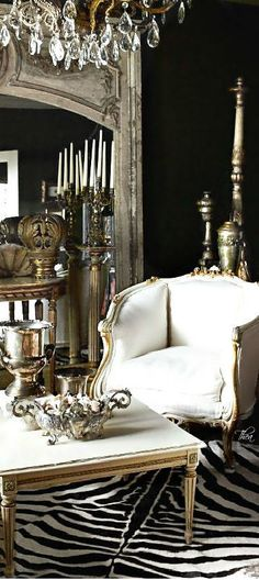Living room - antique style -  via Christina Khandan - Irvine California - www.IrvineHomeBlog.com