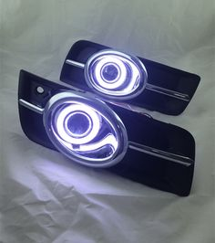 115.00$  Watch now - http://ali2t6.worldwells.pw/go.php?t=32779941692 - eOsuns Innovative COB angel eye led daytime running light DRL +Fog Light + Projector Lens for chevrolet cruze, chrome version 115.00$