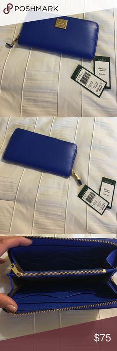 💥 Ralph Lauren wallet Colbalt blue wallet with gold accents, checkbook Lauren Ralph Lauren Bags Wallets