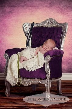 Newborn Picture | Baby Pictures | just think my baby girl, pink chair and zebra blanket.