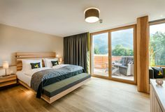 Contemporary design and unusual architecture for demanding travellers. Premium Hotel, Alpine Style, Workout Rooms, Cool Rooms, Warm Colors, Outdoor Pool, Second Floor, Contemporary Design, Relax