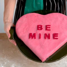 Chocolate Candy Heart Valentine Cake Recipe - Saveur.com - Easy to make and you can always just use buttercream or cream cheese frosting!