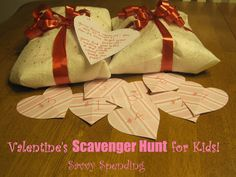 Savvy Spending: Valentine's Scavenger Hunt for Kids! 9 Free, Pre-written clues!