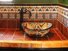Mexican Tile - Mediterranean - Bathroom - austin - by Clay...