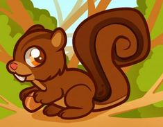 How to Draw a Squirrel for Kids, Step by Step, Animals For Kids, For Kids, FREE Online Drawing Tutorial, Added by Dawn, August 4, 2011, 9:32:19 am