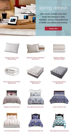 Spring Refresh: Update your pillows and bedding for a fresh start this spring.