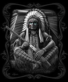 Native American Warrior Chief Super Soft Queen Size Plush Blanket 79 inch x 95 inch