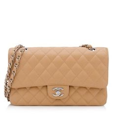 Chanel Caviar Leather Classic Medium Double Flap Shoulder Bag