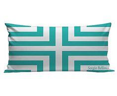 Подушка - шелк - бирюзовый, 30x60 см