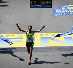 Striding for success. Lemi Berhanu Hayle breaks the taspe & claim victory  adidas Running #BostonMarathon #FitFam