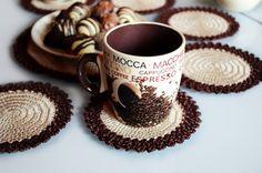 Crochet coasters crochet doilies kitchen decor by jenysdesign