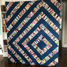 I think I might do this one on adding machine tape with scraps from all of the quilts I've made. That'd be awesome. Jellyroll Quilts, Scrappy Quilts, Quilting Projects, Quilting Designs, Quilt Design, Crumb Quilt, Scrap Quilt Patterns, Half Square Triangle Quilts, String Quilts