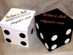 "2018, Money Box, Die Design, Las Vegas Card Box, 9"" Cube Box, Wedding Card Box With Slot"