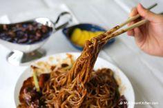 Korean Black Bean Sauce Noodles (Jajangmyeon)