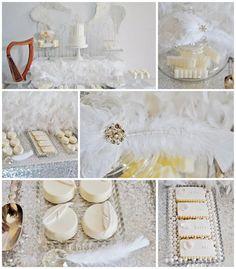 Angel Themed Baby Shower with Such Darling Ideas via Kara's Party Ideas | KarasPartyIdeas.com