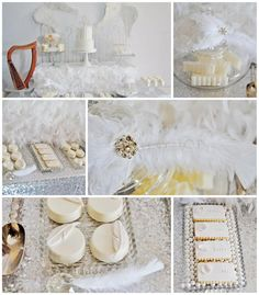 Angel Themed Baby Shower with Such Darling Ideas via Kara's Party Ideas   KarasPartyIdeas.com #Angels #Party #Ideas #Supplies (1)