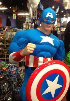 Gabe Landeskog as Captain America