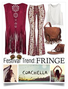 """""""Hippie Festival with Fringe!"""" by nanonat ❤ liked on Polyvore featuring Lulu*s, Coconuts and fringe"""