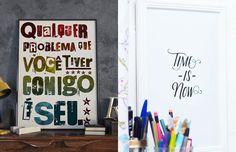 Selecionamos alguns pôsteres com frases tipográficas, handlettering, inspiracionais para baixar de graça e decorar a sua casa. Escolha o seu favorito!