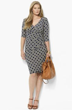 Lauren Ralph Lauren Print Jersey Sheath Dress