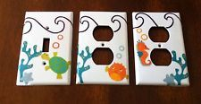 (1) CUSTOM Outlet Plug cover Mw Lambs And Ivy Bubbles & Squirt Sea Turtle