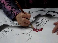 Chinese Painting -Plum Blossom for Beginners - YouTube