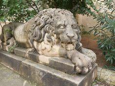 Malta lion sculpture.