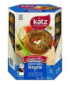 Katz Gluten Free Poppy Seed Bagels, 13 Ounce, Certified Gluten Free - Kosher - Dairy, Nut free - (Pack of 6) >>> Want additional info? Click on the image.
