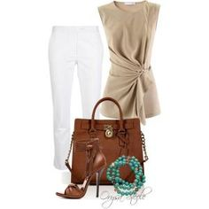 """""""Touch of Turquoise"""" by orysa on Polyvore by alejandra.delvalle.14"""