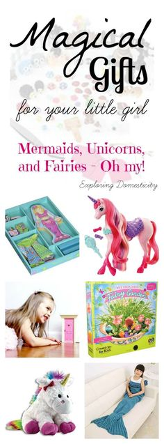 Is your little girl into all things magical?  As I round up gift ideas for…